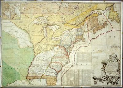 Chart Of The Thirteen Original Colonies - Colony of us on map