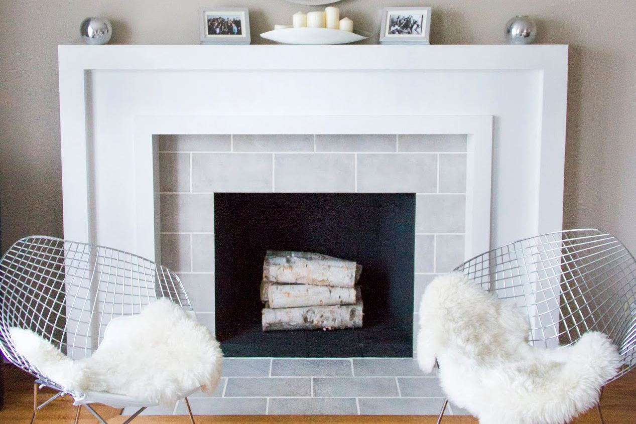 wall tiled top fireplaces ideas large repaint color fireplace