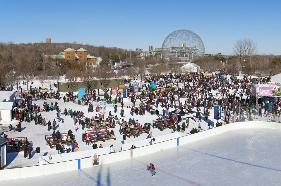 Parc Jean-Drapeau winter attractions include the following activities, sports and festivals.