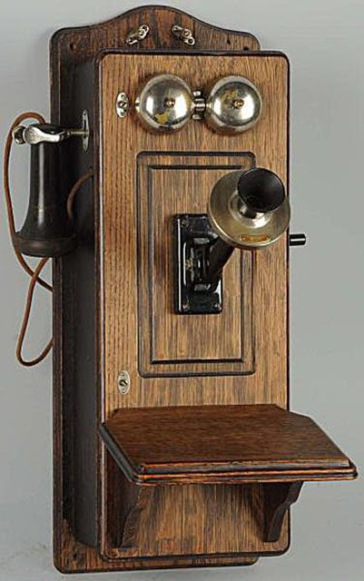 Picture Frame Front Wall Phone - Identify Antique Wall Telephones With Photo Examples