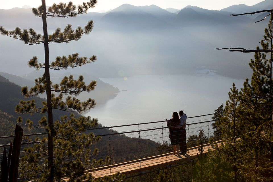 Suspension Bridge with view of Howe Sound.