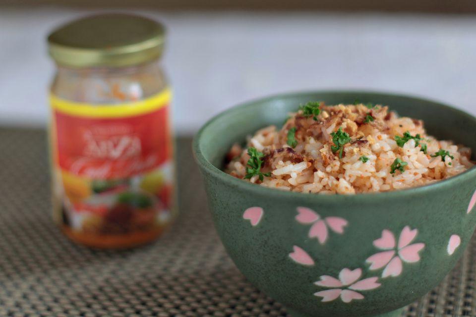Fried rice with taba ng talangka