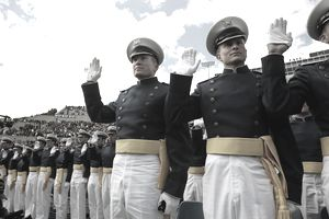 Cadets Celebrate At Air Force Academy Graduation