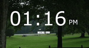 Screenshot of the Onlive Clock website