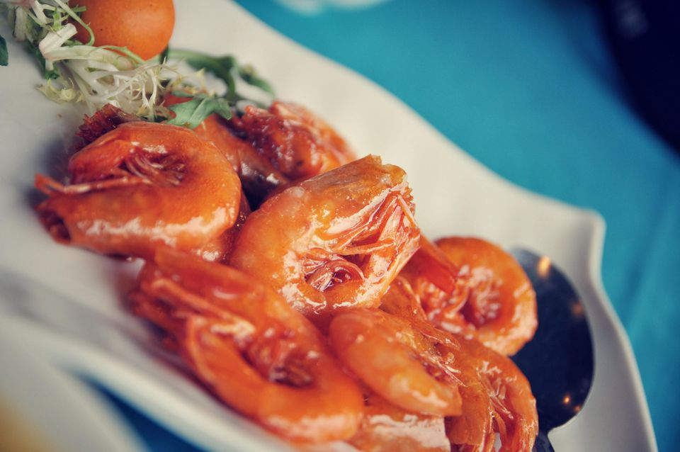 Shrimp with spicy sweet and sour sauce