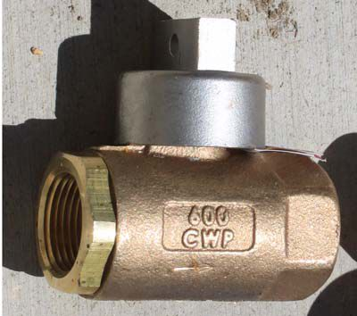 Stop and waste valve