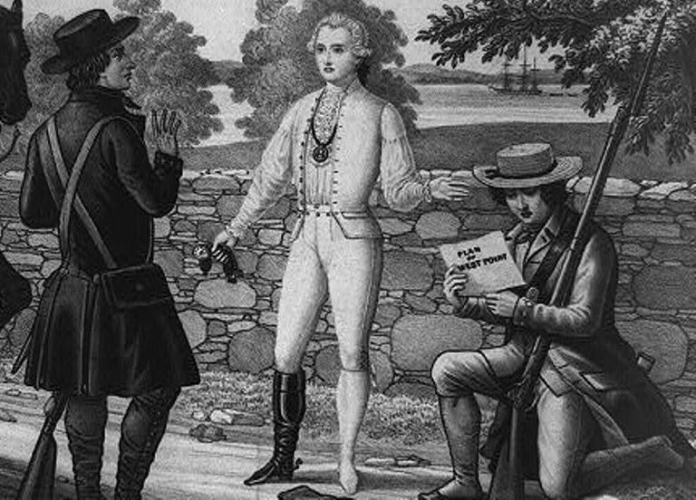John Andre at the time of his capture, 1780