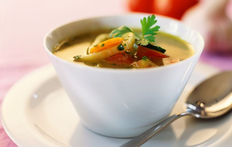Cup of vegetable soup