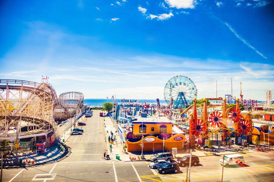 Amusement Park in Coney Island - NY