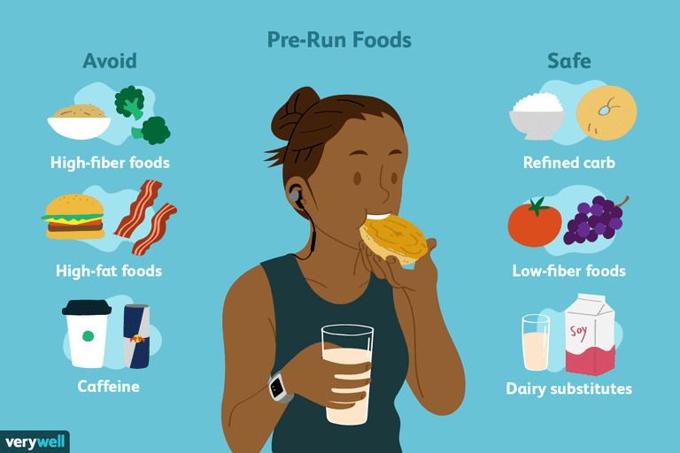 best and worst pre run foods