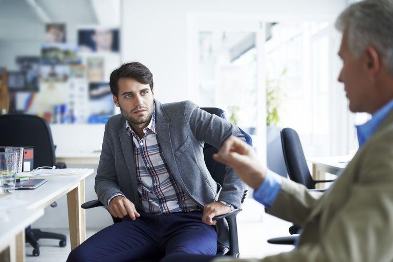 businessmen having a serious talk