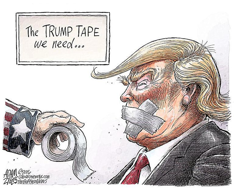 Image result for CARTOONS ON TRUMP CRAZINESS