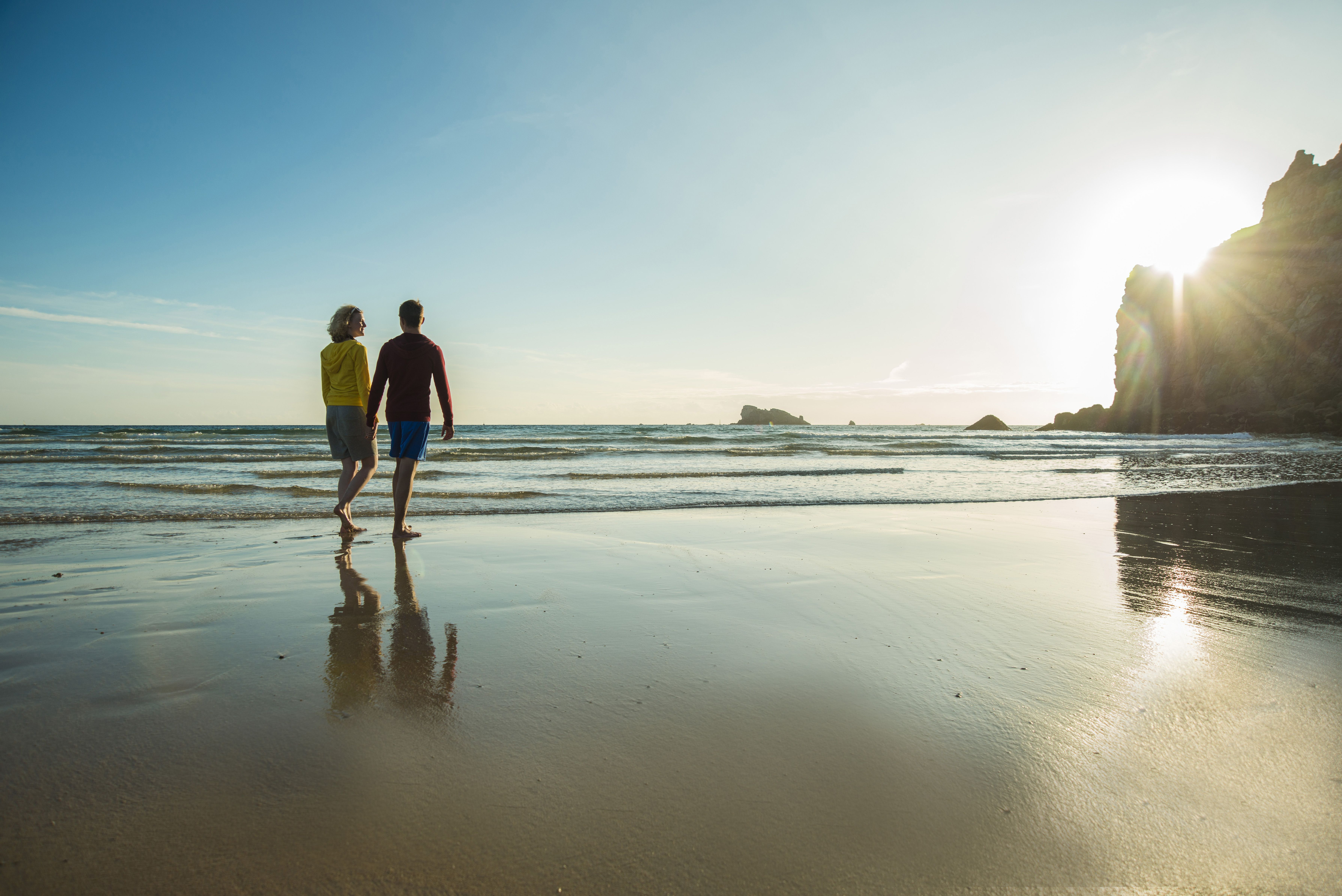 France Brittany Camaret Sur Mer Couple On The Beach Walking Romantic Vacations