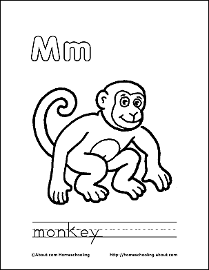 Print The Pdf Monkey Coloring Page And Color Picture