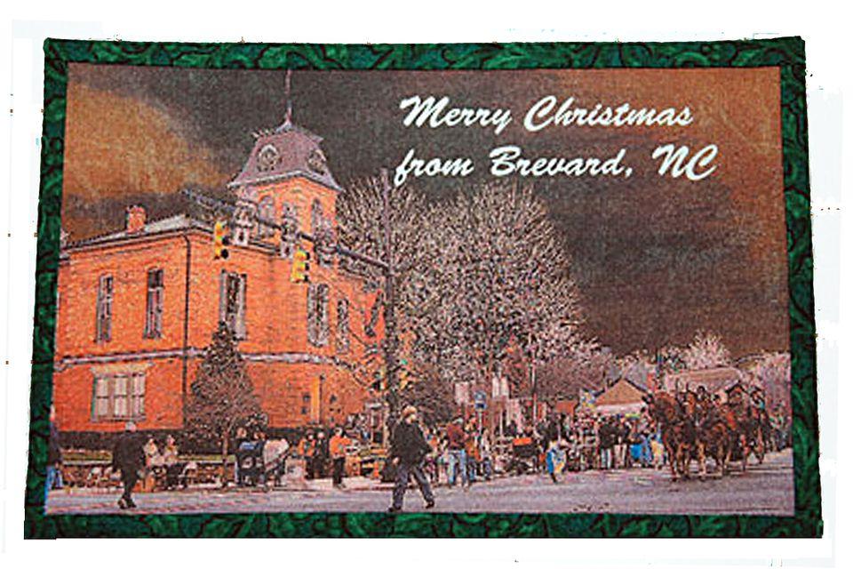 Fabric Postcard with Scene Printed on Fabric