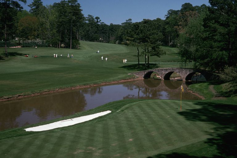 Golfers at Masters Golf Tournament
