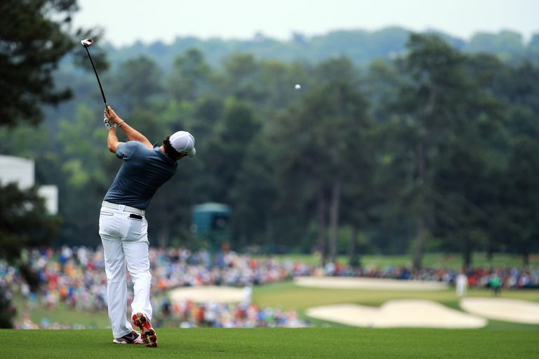 Rory McIlroy on the second hole at Augusta National