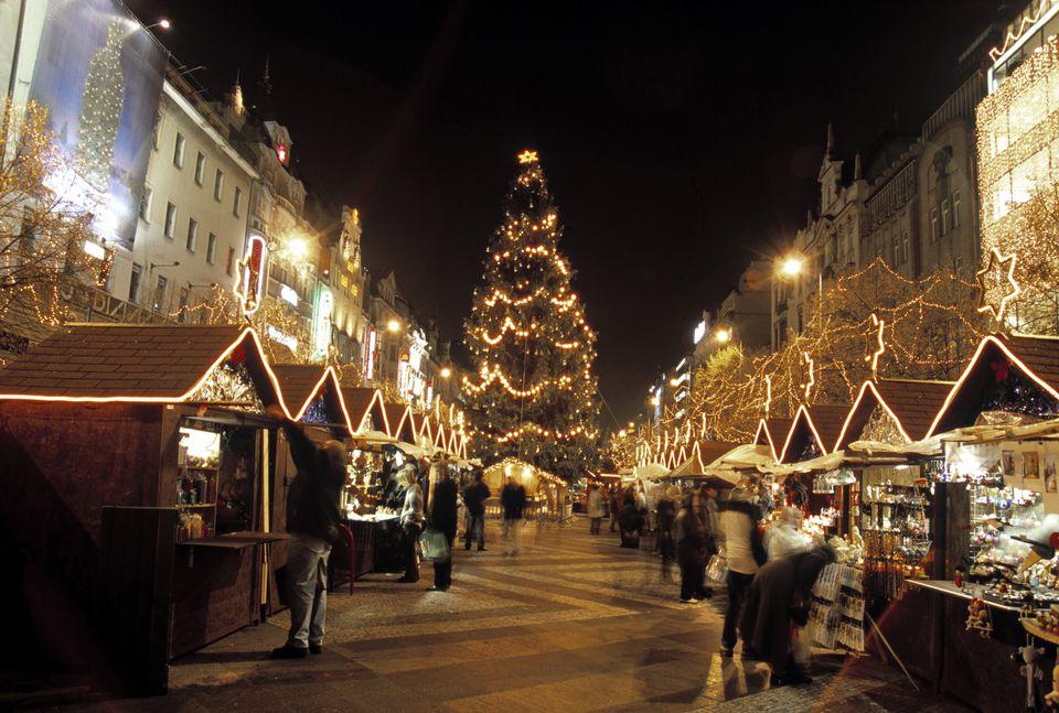 Christmas Market, Wenceslas Square, Prague, Czech Republic