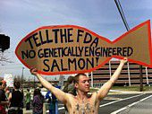 GE Salmon Protest Sign
