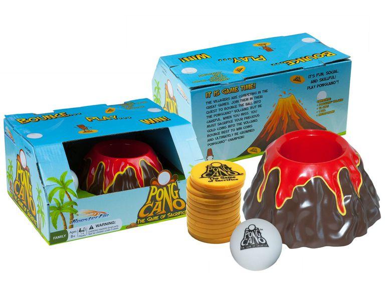 PongCano board game box and pieces