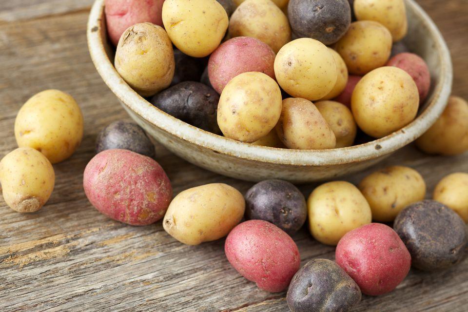 multi-colored potatoes