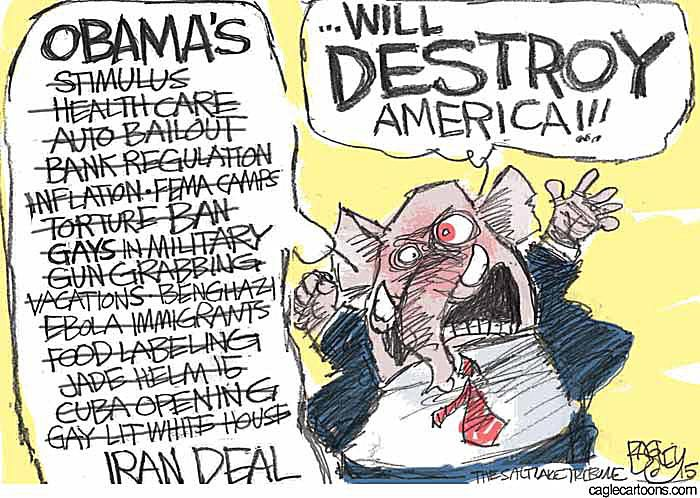 Obama Destroy America Cartoon