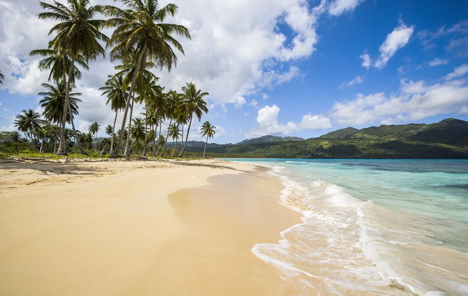 Samana Peninsula, view of Playa (beach) Rincon