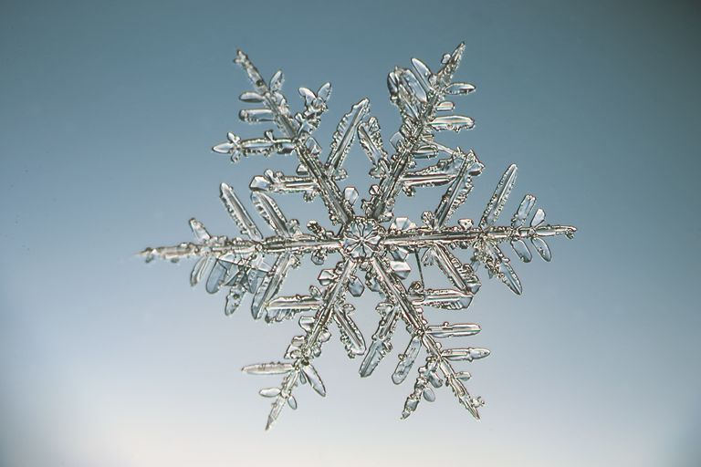 Use Avogadro's number to determine quantity of molecules in a known mass, such as the number of water molecules in a single snowflake.