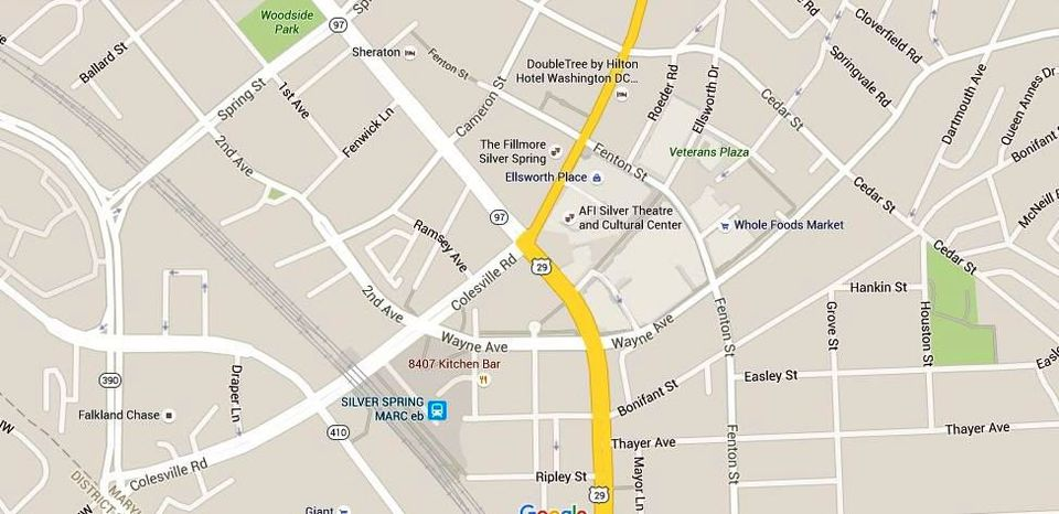 Silver Spring Maryland Map Directions And Parking - Maryland road map