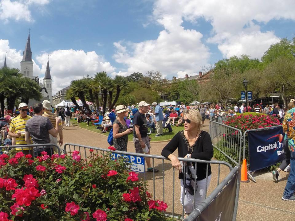 French Quarter Festival in Jackson Square