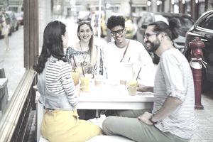 Coffee break with friends