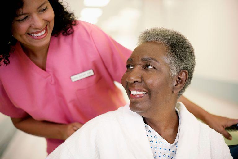 Patient Looking Up to Her Nurse