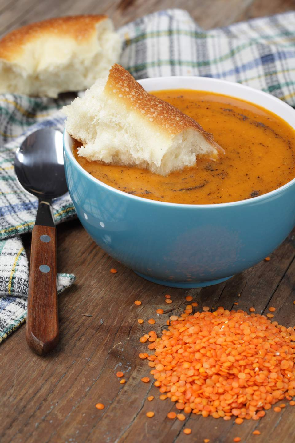 Turkish 'Ezogelin' soup is hearty mix of red lentils, vegetables and spices.