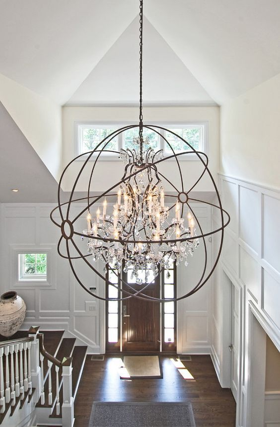 Small Foyer Crystal Chandelier : How to determine the right height for your foyer chandelier