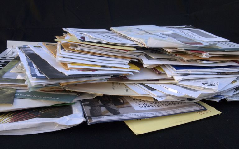 A pile of junk mail