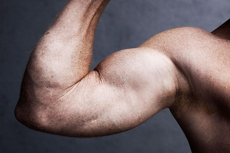 Strong man's arm