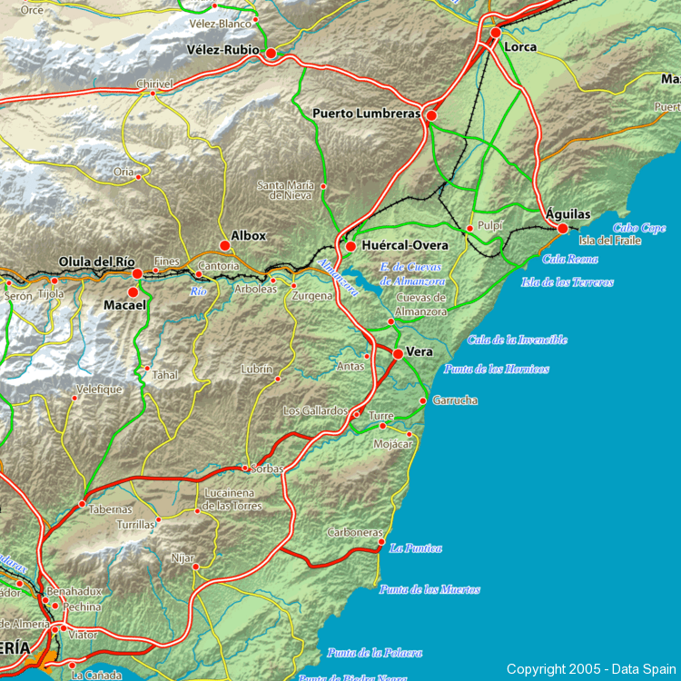 Large Map Of Spains Cities And Regions - Large map of spain