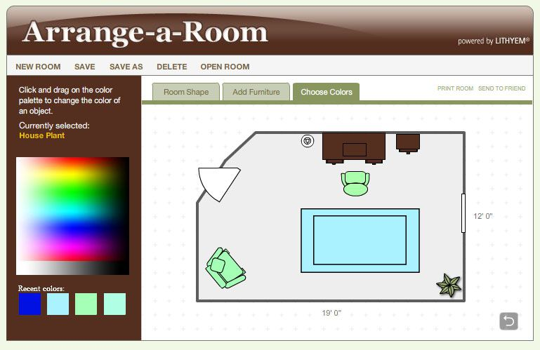 Arrange a room review better homes and gardens for Redesign room layout