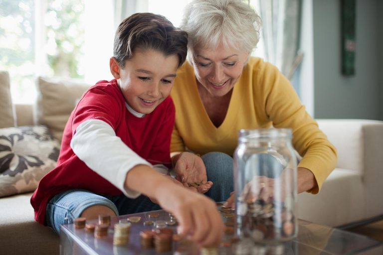 Grandmother Teaches Grandson About Money