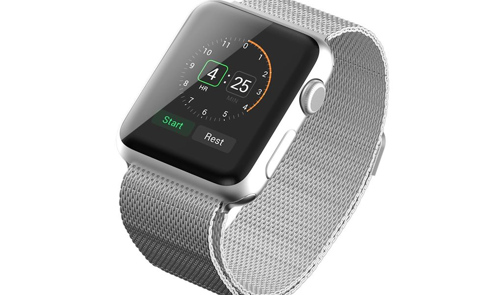 Apple Watch with Milanese Loop Band