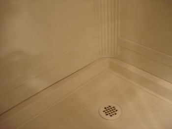 Bathroom Stall Crack Cover shower stall repair - fix cracks, holes, chips, stains
