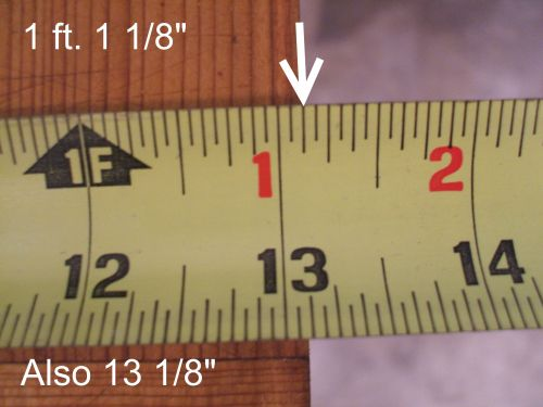 how to correctly read a tape measure. Black Bedroom Furniture Sets. Home Design Ideas