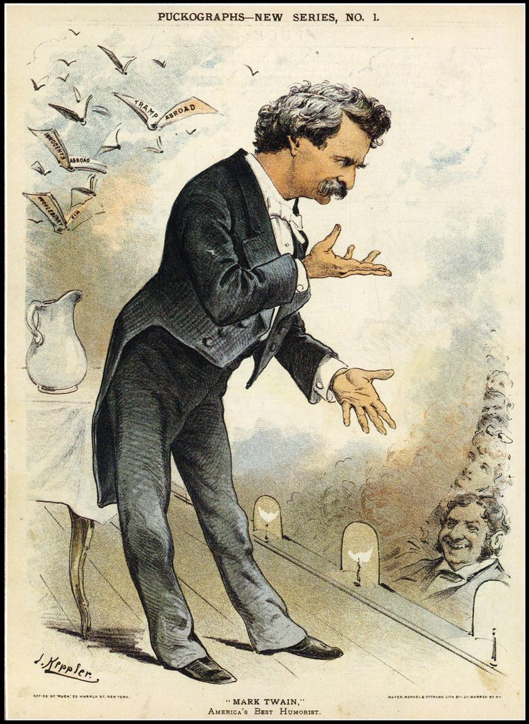 mark twain satire thesis This thesis uncovers truths and lies in the works of mark twain it examines   the satirical essay accuses the historical club of being devoted to the art of lying .