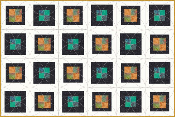 Easy Framed Four Patch Quilt Pattern