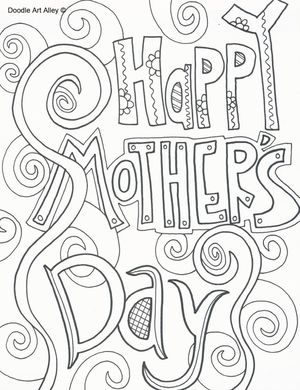 doodle art alleys free mothers day coloring pages - Mothers Day Coloring Pages Free