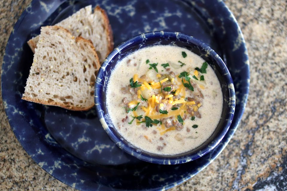 Cheeseburger Chowder, Stovetop or Slow Cooker