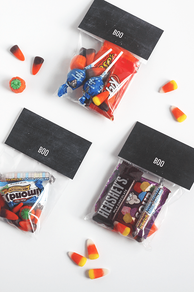 DIY Boo Treat Bag Toppers