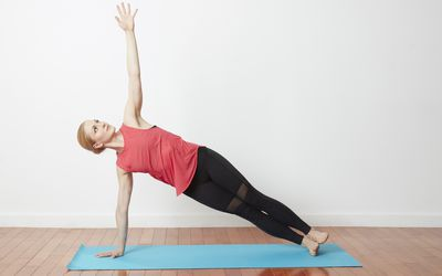 how to do revolved half moon yoga pose