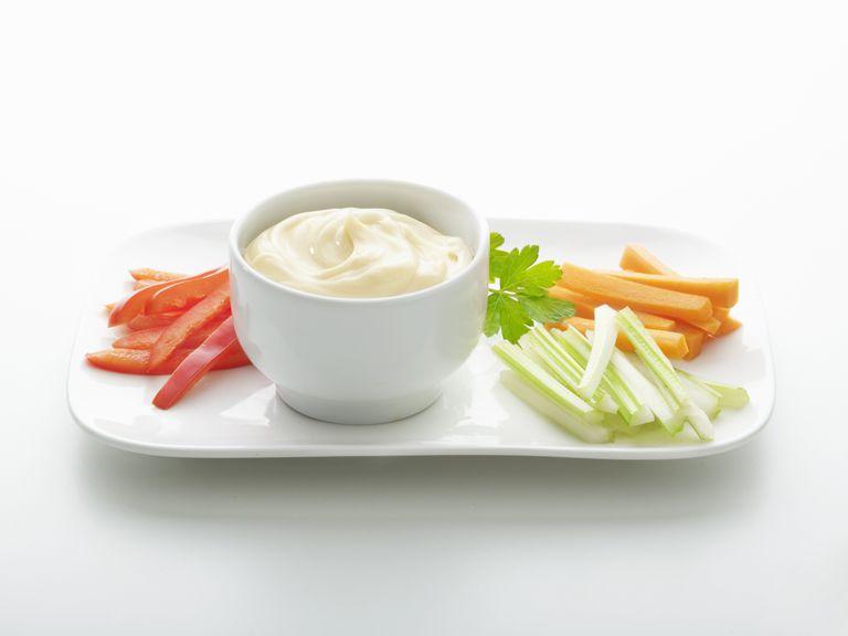 gluten-free mayonnaise with veggies