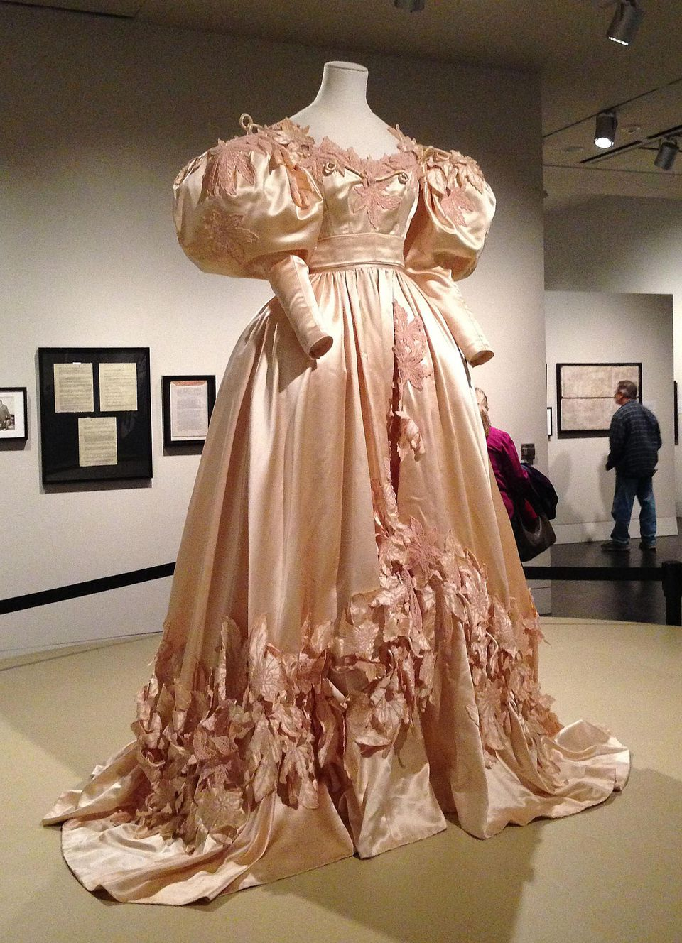 Scarlet o hara s dresses displayed after restoration for Restoring old wedding dresses